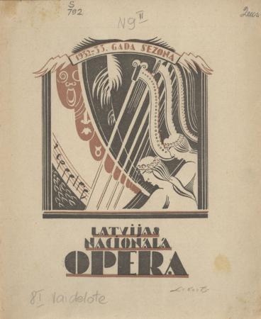 Latvijas Nacionālā opera : 1932/33. gada sezona (Nr. 9)