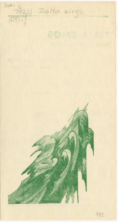 """""""Zelta zirgs"""" : Raiņa saulgriežu pasaka : Latvju Drāmas Ansambļa II. studijas veidojums : [programma]"""