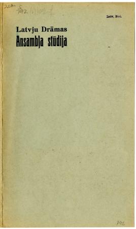 """Rainis: """"Spēlēju, dancoju"""" : velnu nakts pasaka Latvju Drāmas ansambļa stūdijas veidojumā"""