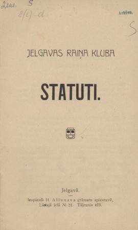 Jelgavas Raiņa kluba statūti