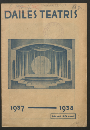 Dailes Teātris. Nr. 19, 1937./38. gada sezona, Septembris