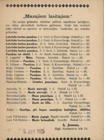 Raiņa Lellīte Lolīte : viņas dzīve un gals