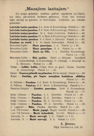 Raiņa Vasaras princīši un princītes : dzejoļi
