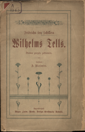 Vilhelms Tells: drāma 5 cēlienos