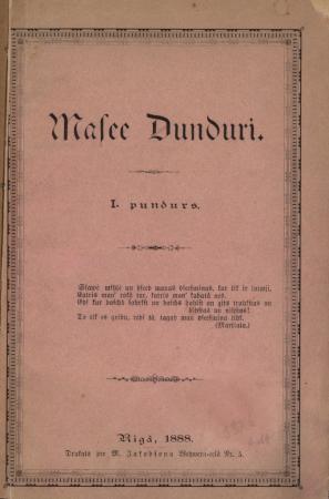Mazie Dunduri : [krājums] : 1. pundurs